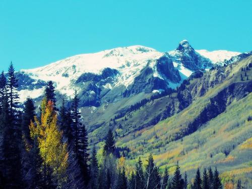 autumn sky snow mountains rural colorado enhanced orton sanjuanmountains milliondollarhighway