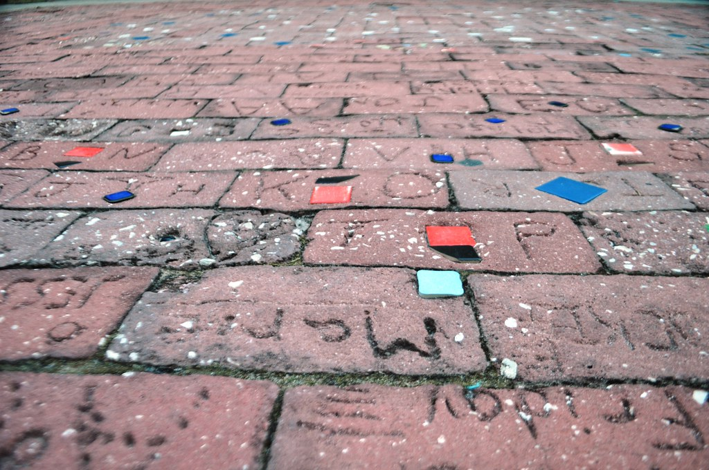 Bricks for Some of the 16,000 Volunteers Who Helped Build the Brevard Zoo, Melbourne in Florida's Space Coast, Nov. 7, 2014