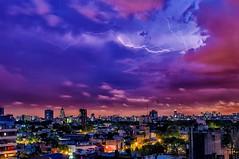 Atardecer relampagueante - Sunset lightning