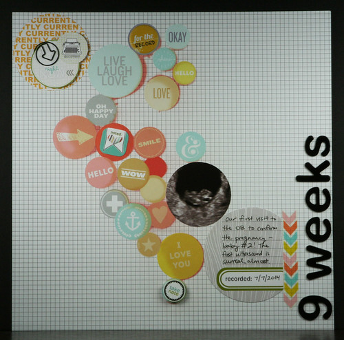 9 Weeks (Maternity) Scrapbook Layout | shirley shirley bo birley Blog