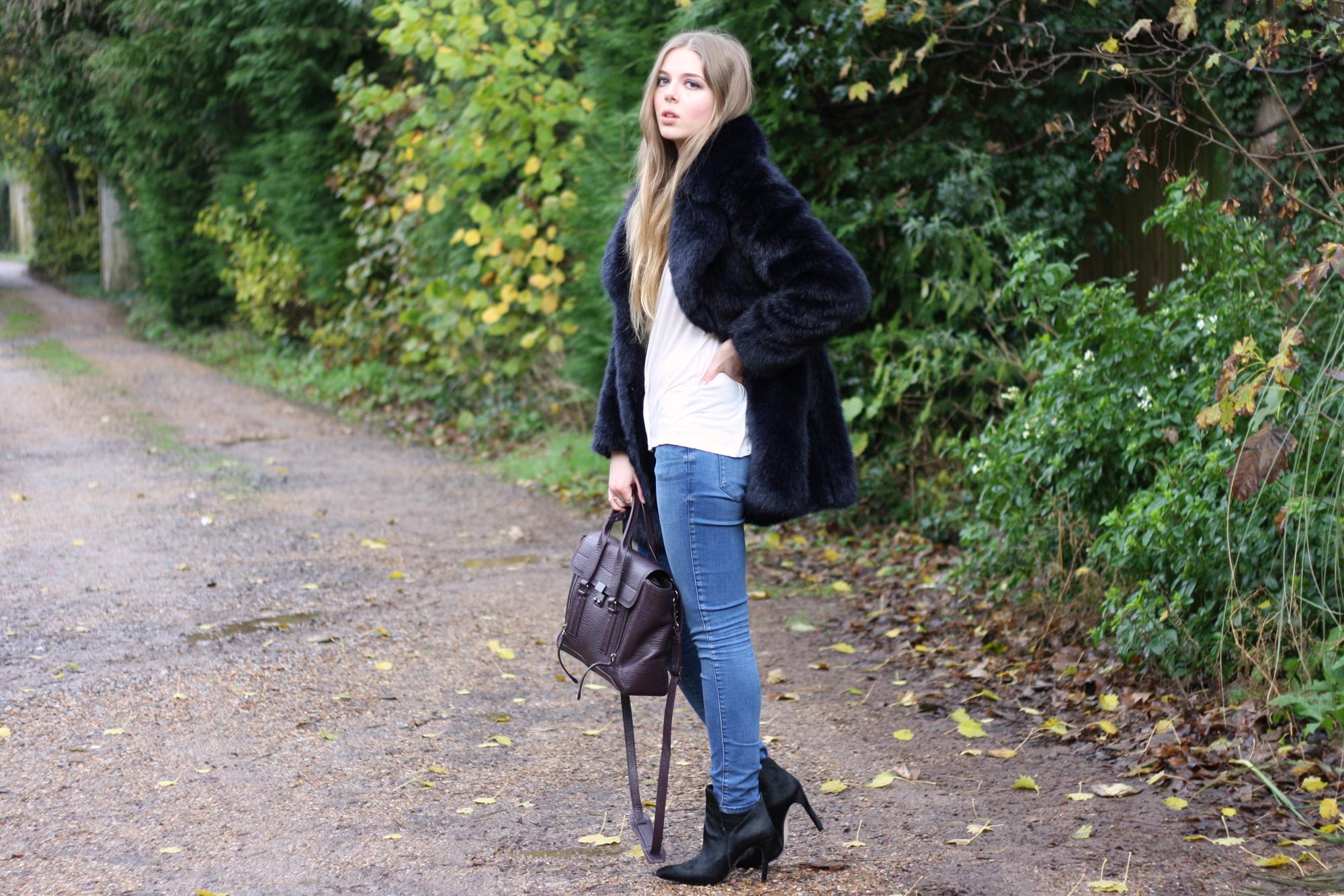 Zara black ponyskin ankle boots