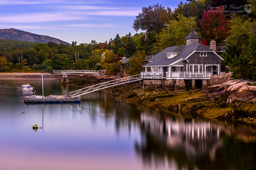 ocean longexposure autumn reflection fall coast unitedstates maine hdr sealharbor
