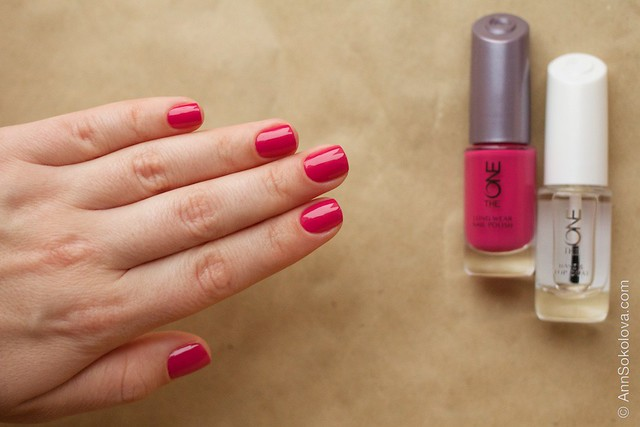 21 Oriflame The One Fuchsia with Oriflame The One Base & Top Coat