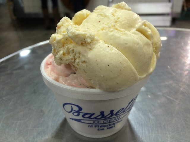 Egg nog and raspberry truffle - Bassetts Ice Cream
