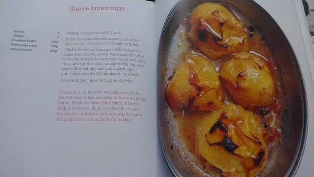 Quince, brown sugar