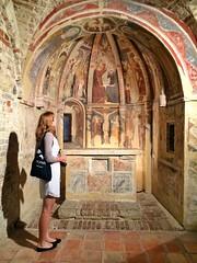 affreschi all'interno della chiesa di Santa Maria della rocca di #offida #ilikemarche