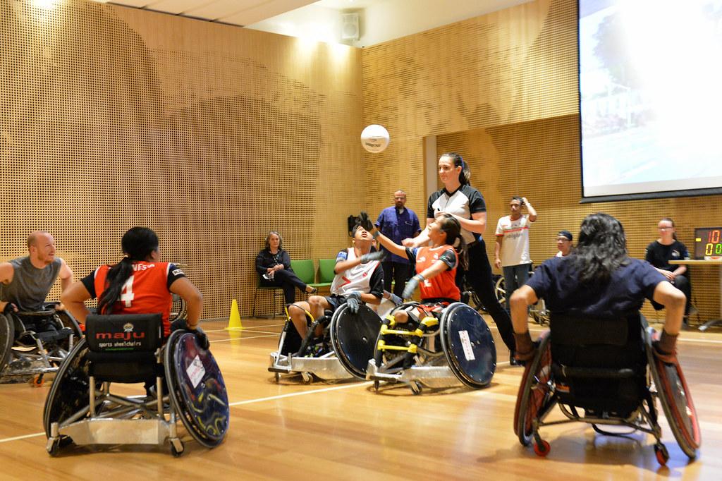 Pertandingan Rugbi Kursi Roda di Kedutaan Besar Australia