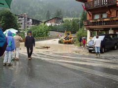 The Landslide and flooded roads at Les Contamines-Montjoie Image