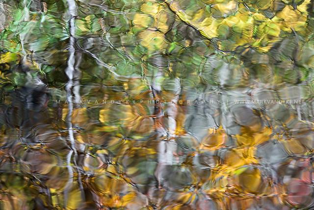 Cullasaja River Gorge NC Autumn Reflections