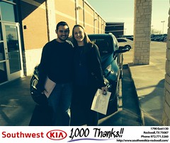 #HappyBirthday to Chelsea from Steve Kravetz at Southwest KIA Rockwall!