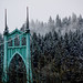 Snow Dusting St Johns Bridge by ZnE's Dad