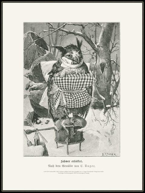 s130 5276 Garten1892  Heft 4 Schwer erkältet Nach dem Gemälde von E. Unger Gartenlaube Verlag Ernst Keil's Nachfolger Erscheinungsjahr 1892 Erscheinungsort Leipzig