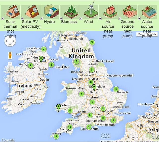 National Trust再生能源地圖