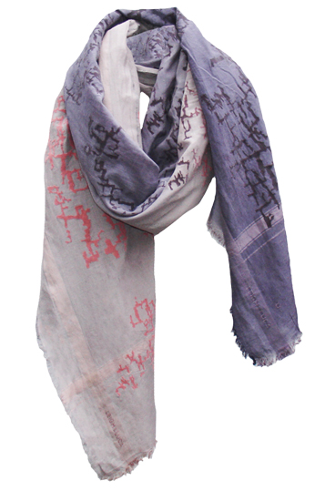 Wood Grain Sapphire Ombre Rectangle Scarf