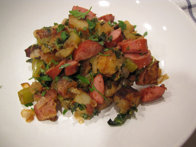 Sausage, Kale & Apple Hash