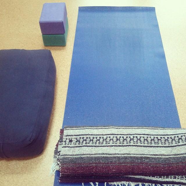I always feel like I'm building a nest. #yoga #onedayhh