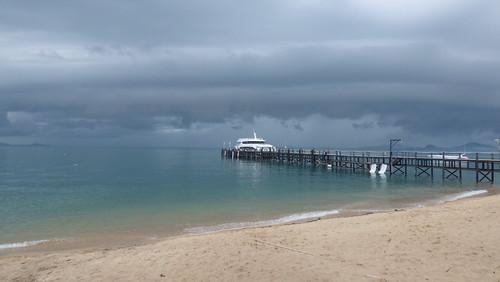 Koh Samui maenam Beach before rain