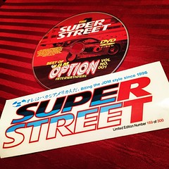 #throwbackthursday just found these in my mancave. #SuperStreet #OptionsMagazine collaboration bumper sticker and DVD. #JDM #USDM #OG #Collectors #LimitedEdition #Options2 #tbt