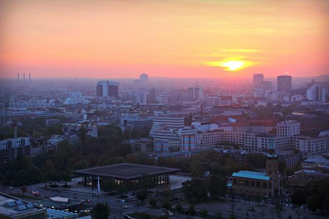 Sunset from Panoramapunkt & Neue Nationalgalerie