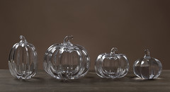 Glass Pumpkin Lineup