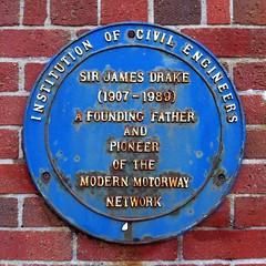 Photo of James Drake blue plaque