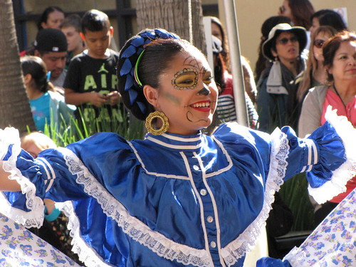 Smiling Woman at Day of the Dead Festival
