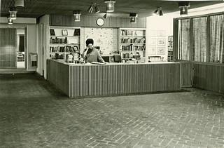 Denton City-County Library Circulation Desk, ca1969.