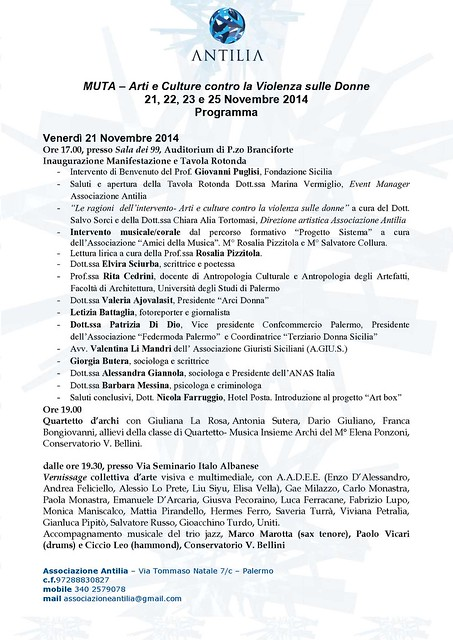 Programma MUTA 21,22,23e 25 Nov._1