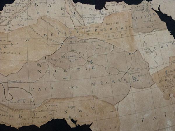 détail carte afrique