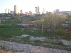 Asuncion, remains of the shanty town Chacarita that was cleared away for the new Costanera
