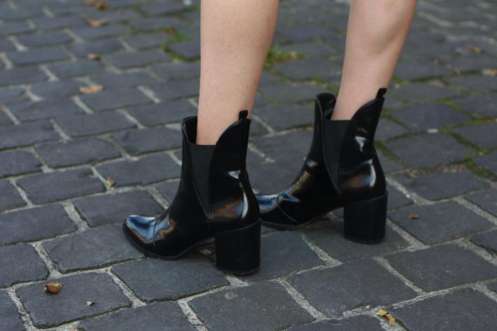 zara patent chelsea boots