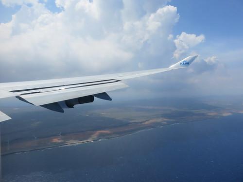 Anflug auf Curacao