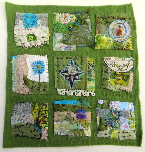 Childhood Summer ~ text on textiles