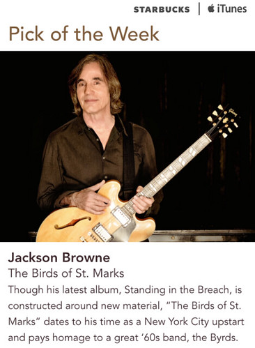 Starbucks iTunes Pick of the Week - Jackson Browne - The Birds of St. Marks