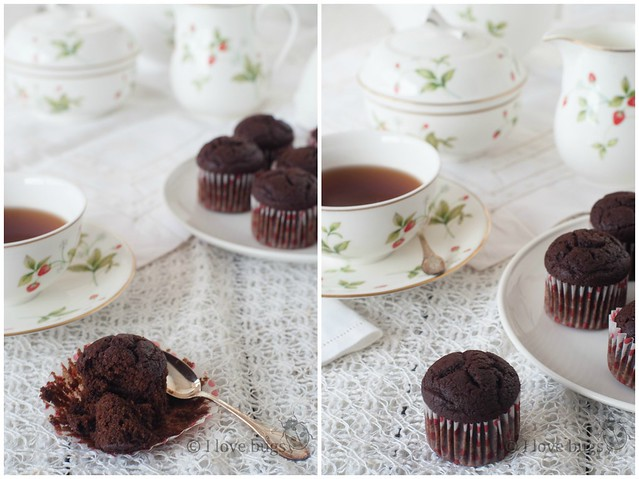 Chocolate Muffins 2 Collage