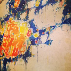 Spending the afternoon with Sam Francis @nortonsimon is almost like a day at the beach and sailing.