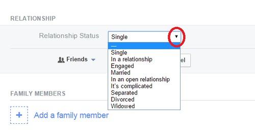 status hubungan di facebook