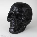 Black glittered skull