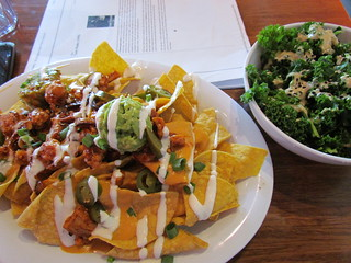 Mondo Nachos and Kale with Ginger-Miso Dressing from Veggie Grill (South Lake Union)