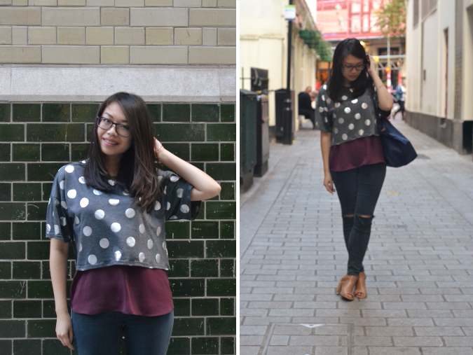 Daisybutter - UK Lifestyle and Fashion Blog: aland, how to style river island camisole, topshop jamie jeans, south korean street style