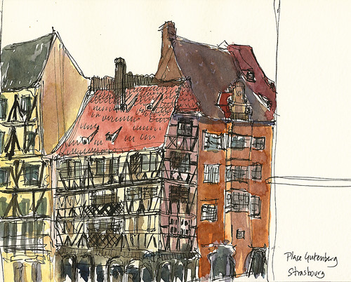 Half-timbered buildings, Strasbourg, France