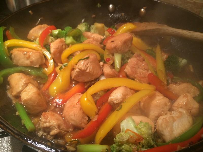 Chicken Cashew Nut and broccoli Stir Fry : Reduce the sauce
