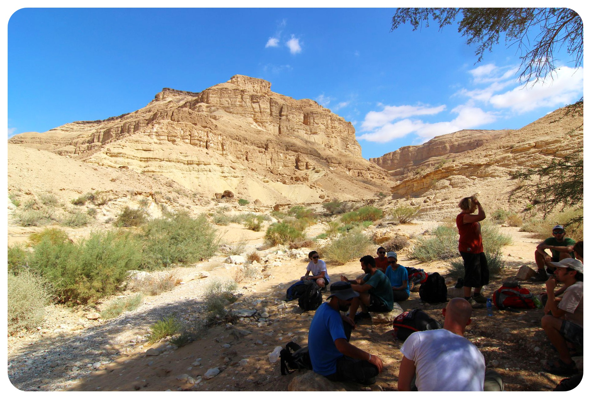 negev desert hike israel national trail hikers