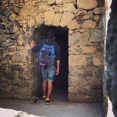 Entering another old church chamber at Khor Virap Monastery. #armenia #tombraider #travel #adventure. If you ever wonder who is taking this photo its just a self-timer.
