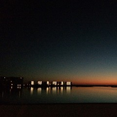 Last rays reflecting off Phillips Inlet #panama_city_beach #sunset