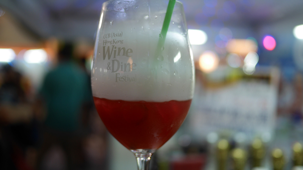 Wine cocktail at Hong Kong Wine & Dine Festival 2014