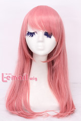 60cm long pink straight cosplay party hair wig CW202A