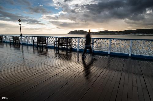 wood morning wet rain wales sunrise dark pier plank llandudno