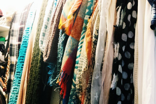 Jasmine's scarf collection / organization idea