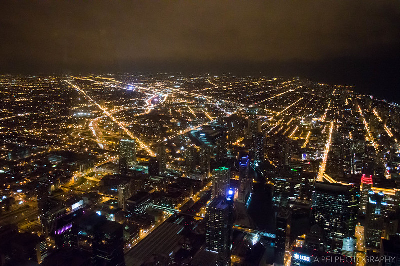 Willis Tower Night View of Downtown Chicago